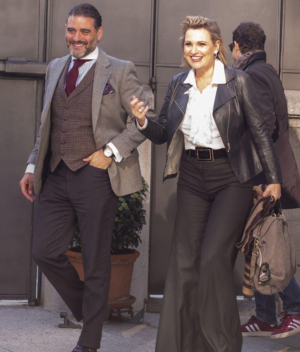 Ainhoa Arteta con su marido, Matías Urrea