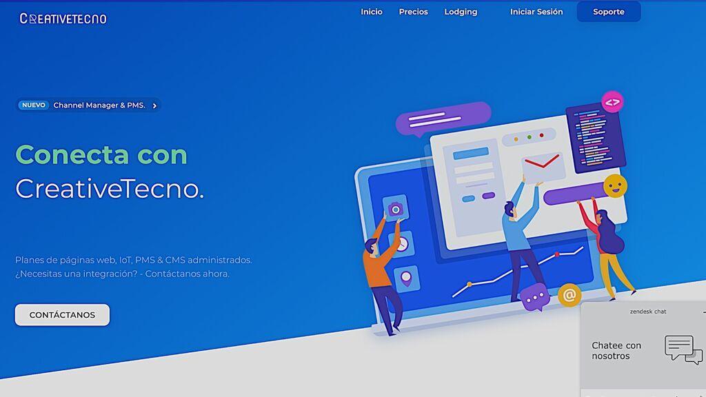 La web de CreativeTecno