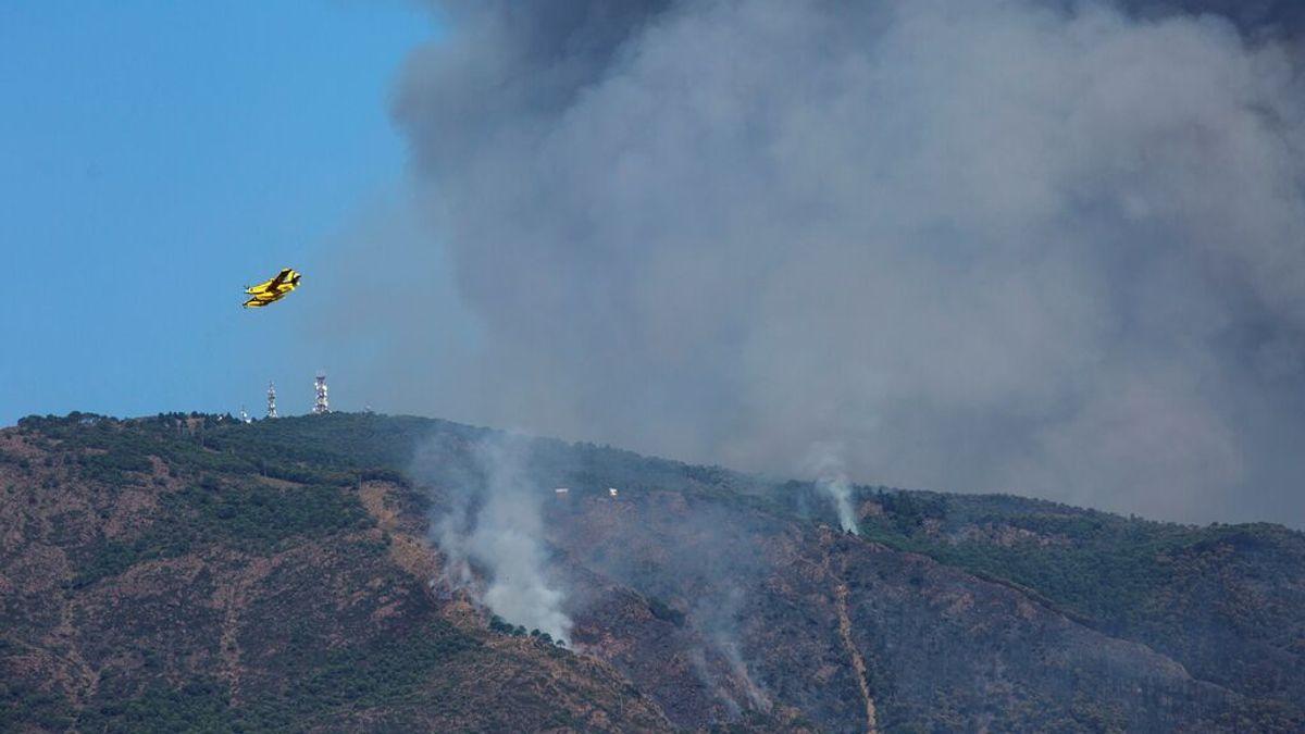 El incendio de Sierra Bermeja, en Málaga, afecta ya a 6 000 hectáreas