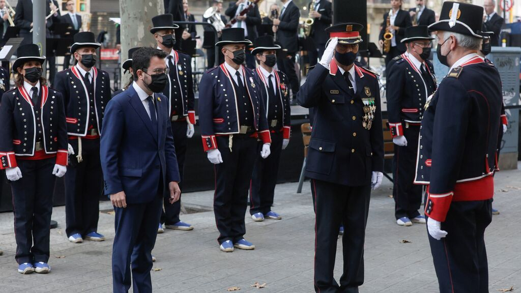 Día de Cataluña, sábado 11 de septiembre: Aragonès y Colau participan en la típica ofrenda floral