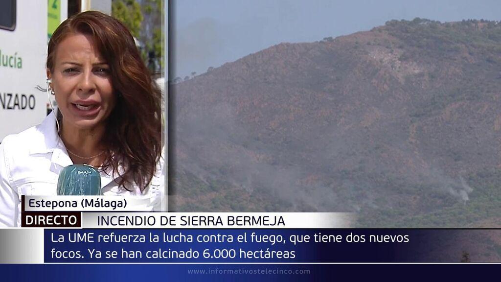 Los bomberos, aterrados con el fuego de Sierra Bermeja