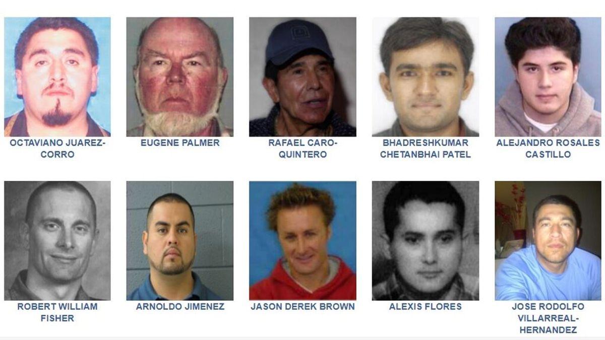 Los fugitivos más buscados por el FBI y por los que se ofrecen recompensas millonarias