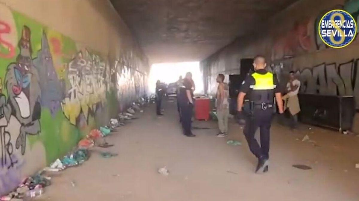 La Policía disuelve una fiesta rave en Sevilla a mediodía en la que quedaban 150 jóvenes concentrados