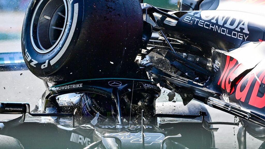 El 'halo' que ha salvado la vida a Hamilton en el accidente con Verstappen