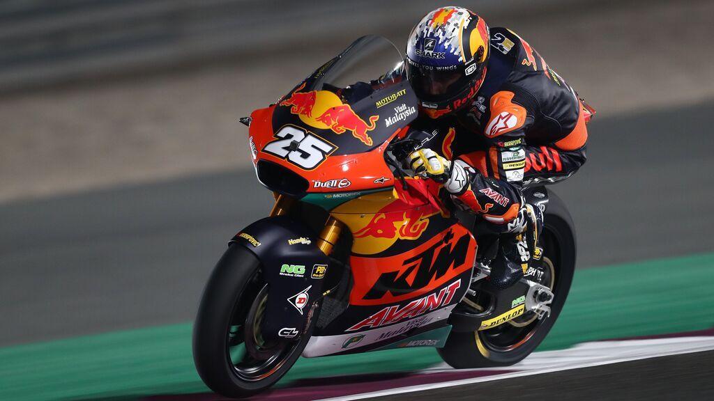 Raúl Fernández se exhibe en Moto2 en Aragón