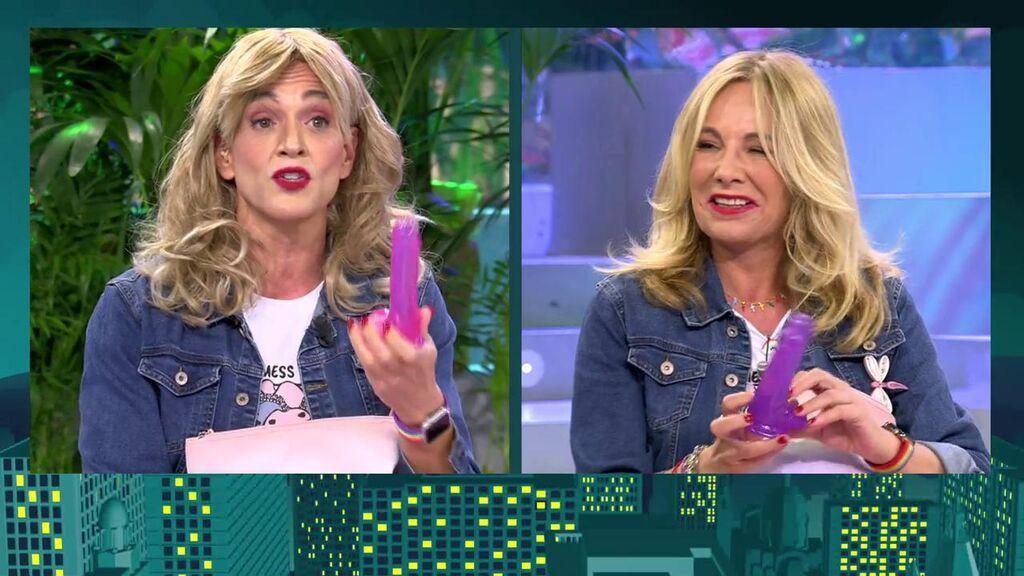 Belén Rodríguez y su gemela revolucionan el plató de 'Sábado deluxe'