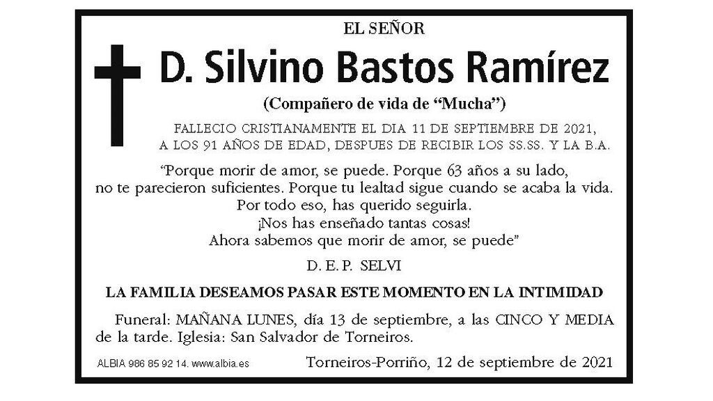 Esquela de El Faro de Vigo