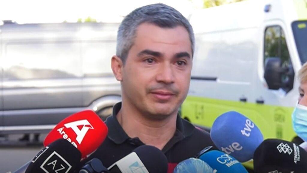 El llanto de Miguel Angel Herrera,  alcalde de Senalguacil, ante el desolador incendio