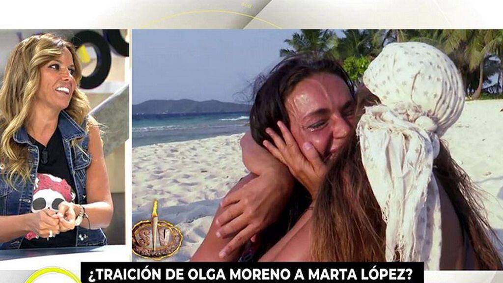 """Marta López reacciona a la gran rejada de Olga Moreno: """"Una nunca está preparada para que escuchar que una amiga habla de ti"""""""