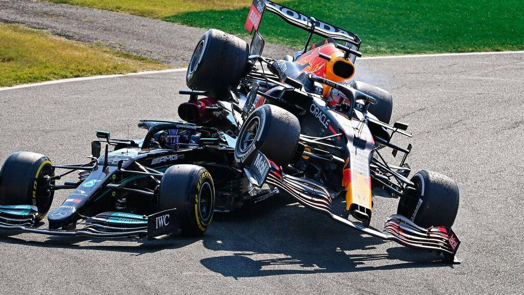Hamilton salva su vida gracias al halo en Monza