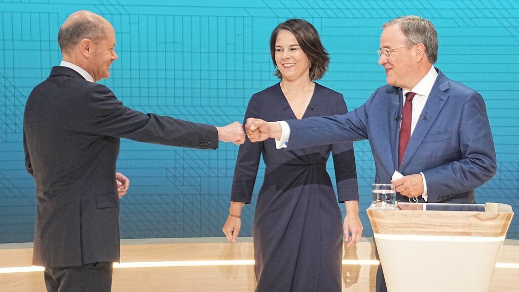 Elecciones Alemania: Scholz aguanta los ataques de la versión más combativa de Laschet