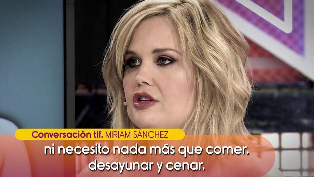 """Miriam Sánchez: """"Estoy en rehabilitación necesito tranquilidad e irme fuera de España"""""""