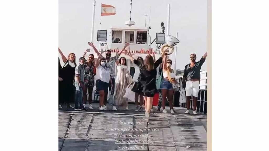 La marcha en barco de Anabel Pantoja y todos sus amigos