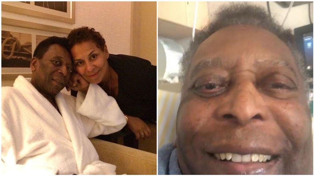 La hija de Pelé publicó una videollamada con su padre.