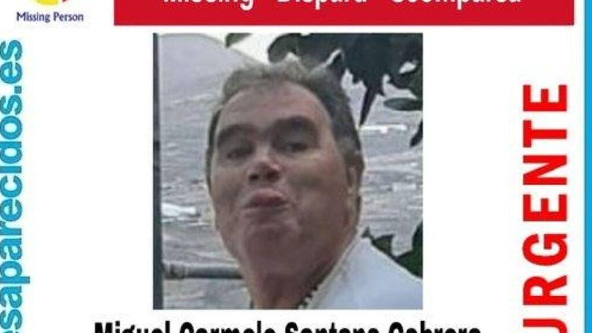 Se busca a Miguel Carmelo Santana , de 60 años, desaparecido en Telde