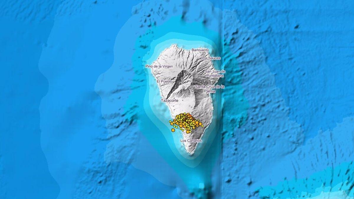 El 'enjambre sísmico' en La Palma se amplía a Tazacorte con 120 pequeños terremotos nocturnos