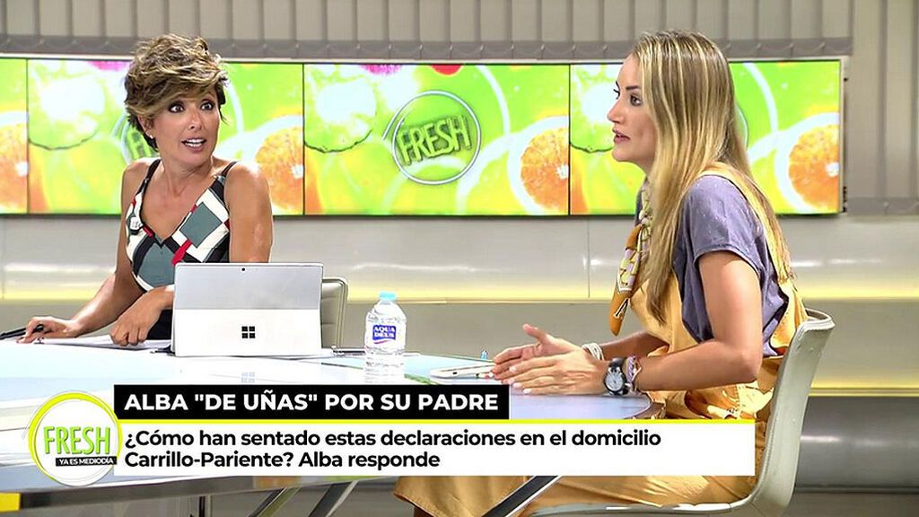 Alba Carrillo  a punto de llorar tras una reprimenda de Sonsoles Ónega