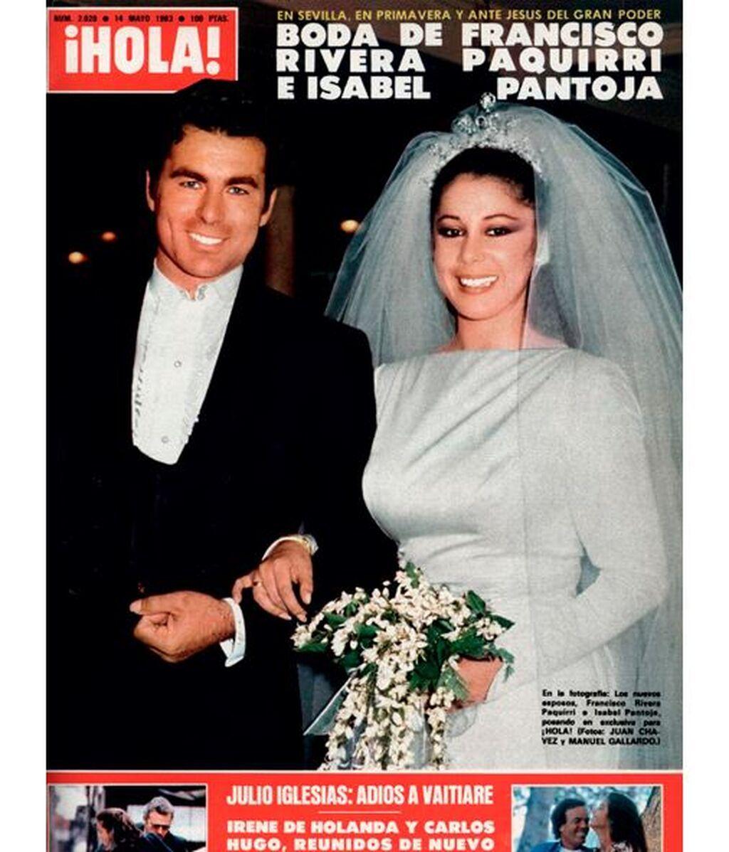 El traje de novia de Isabel Pantoja era un diseño de su amiga Lina