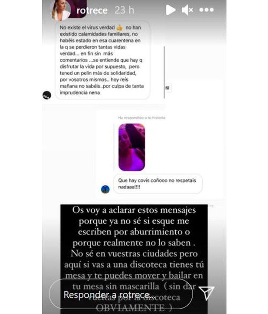 Rocío Flores ha respondido a los que han cargado contra ella