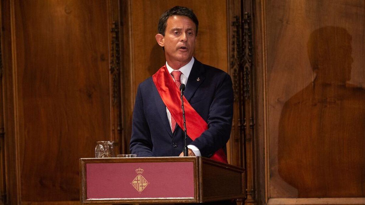 Valls falta al pleno del Ayuntamiento de Barcelona que ha formalizado su renuncia como concejal