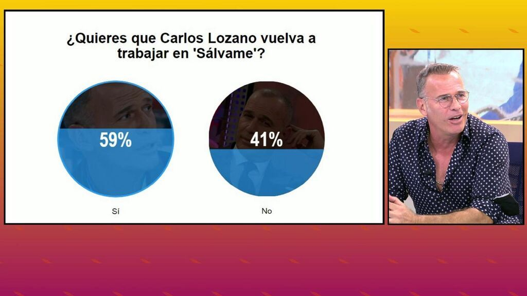 La audiencia de 'Sálvame' toma la palabra: quieren que Carlos Lozano vuelva a trabajar en el programa