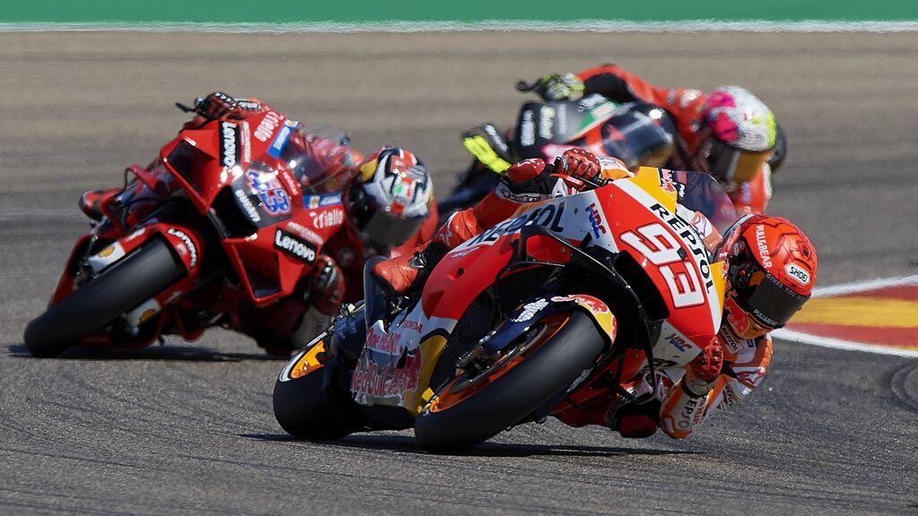 Marc Márquez fue segundo en el GP de Aragón.