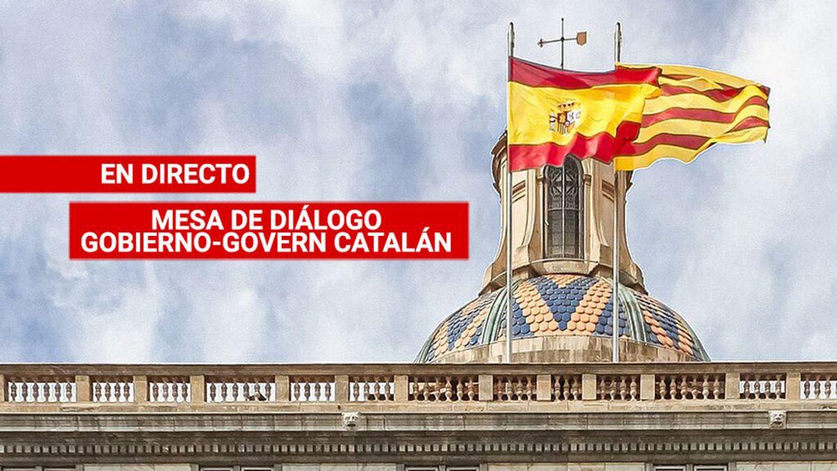 Última Hora de la mesa de diálogo: Las delegaciones siguen reunidas ya sin Sánchez ni Aragonès