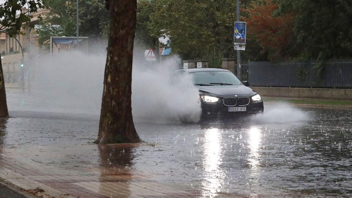 Salamanca vive el día más lluvioso del siglo: la borrasca descargó más de 50 litros/m2 en pocas horas