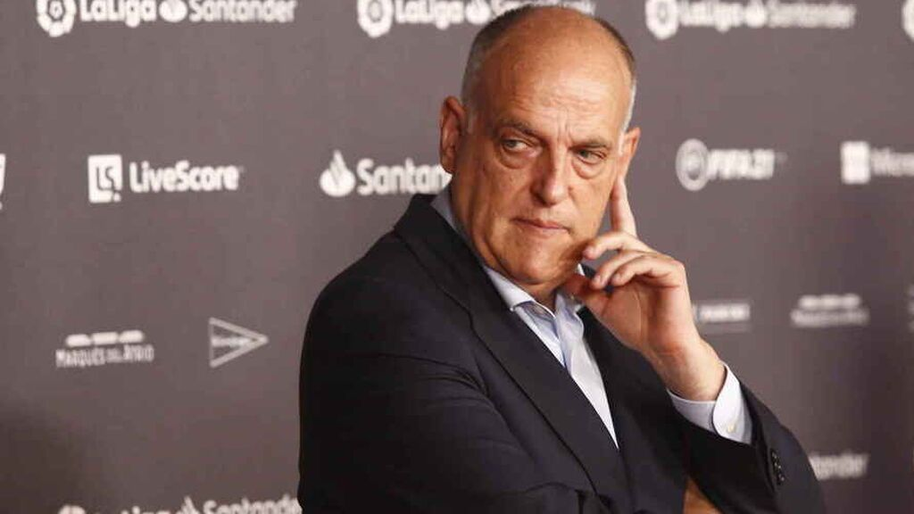 """Javier Tebas: """"El Real Madrid nunca podrá ser el PSG porque ellos hacen trampas"""""""