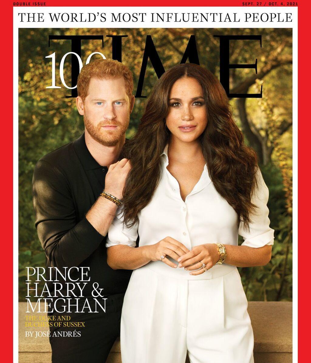 Harry y Meghan en la portada de Time