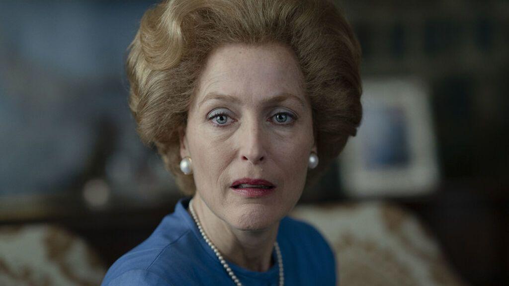 Gillian Anderson como Margaret Thatcher en 'The Crown'