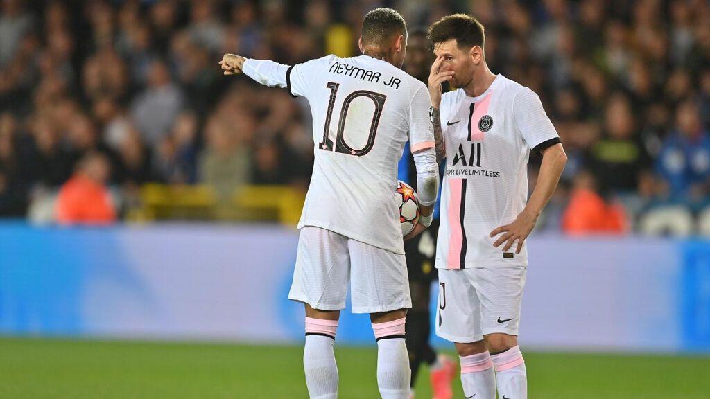 El 'Dream Team' se la pega en su estreno: Messi, Neymar y Mbappé, incapaces de ganar al Brujas