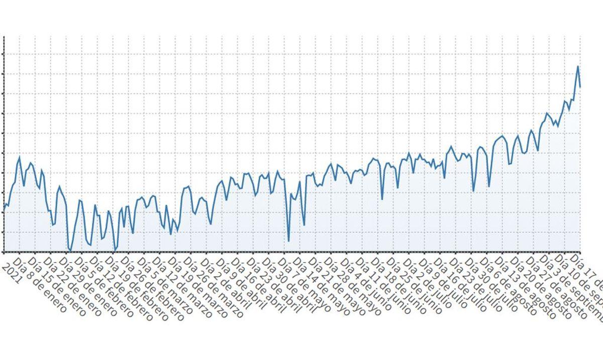 El precio de la luz da un respiro este viernes hasta los 166,29 euros/MWh: su escalada en gráficosL