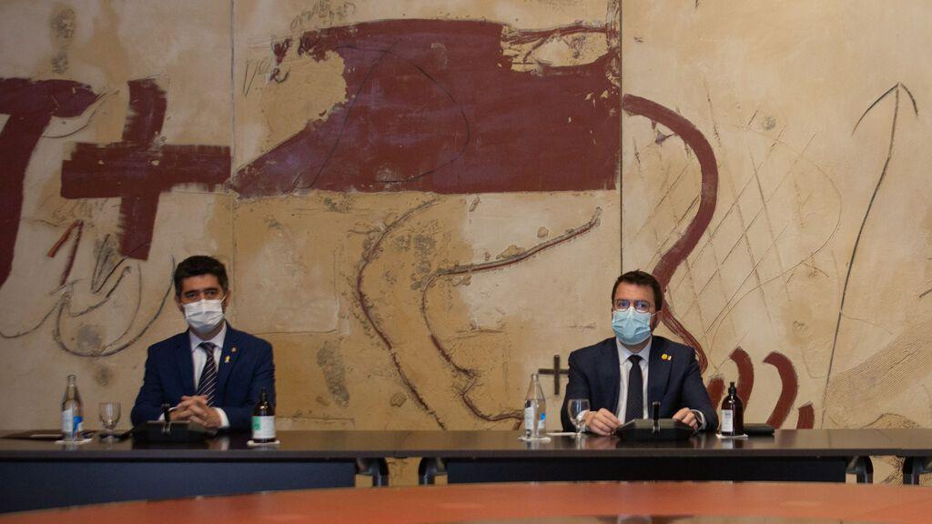 Aragonès cita a Puigneró para explicar las conclusiones de la mesa de diálogome