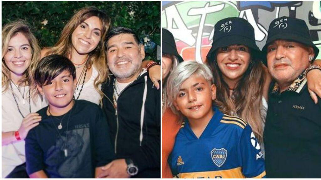 """La promesa de los hijos de Maradona a su padre: """"No queremos que tu fuego se apague nunca"""""""