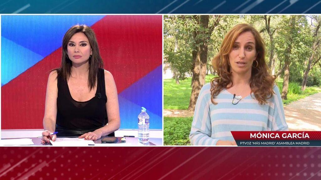 """Mónica García responde a los ataques personales de Ayuso: """"Aquí estamos para hacer política"""""""