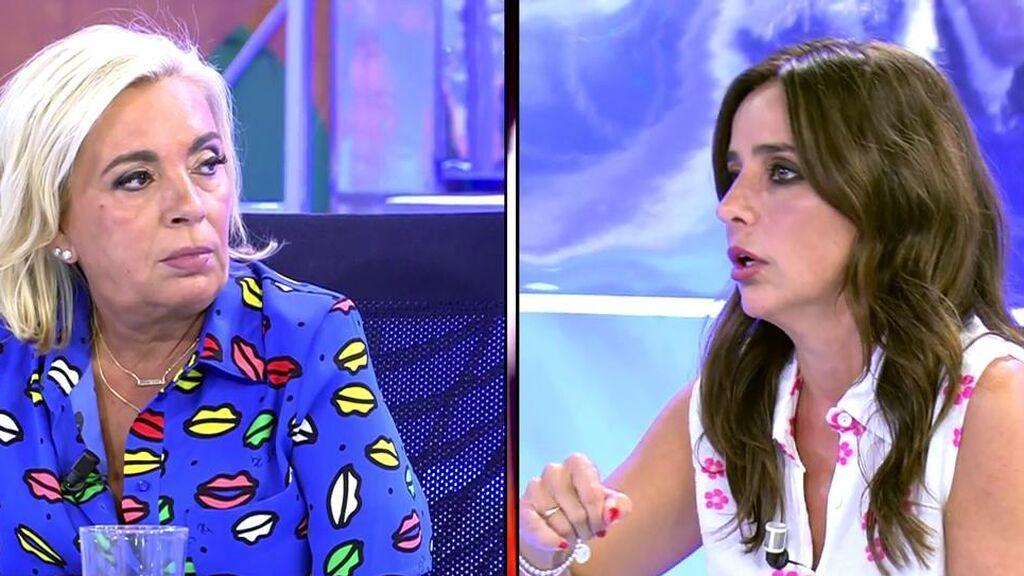 """Borrego se enfrenta a Alcayde para defender el honor de María Teresa Campos: """"Mi madre no ha mentido jamás, ¿te queda claro?"""""""