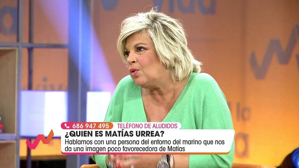 Terelu Campos explica el motivo del plantón de Matías Urrea