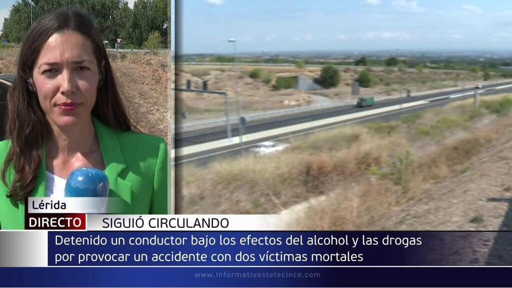 Detenido por chocar y causar dos muertes mientras conducía bebido y drogado en Lleida