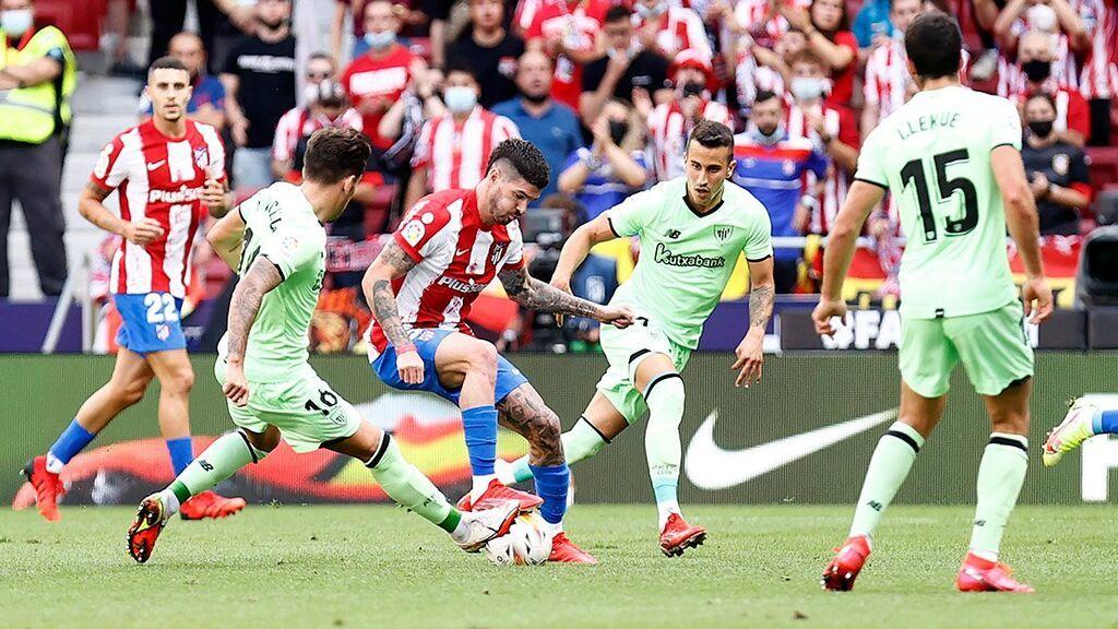 El Atleti sigue sin encontrarse y empata contra el Athletic (0-0)