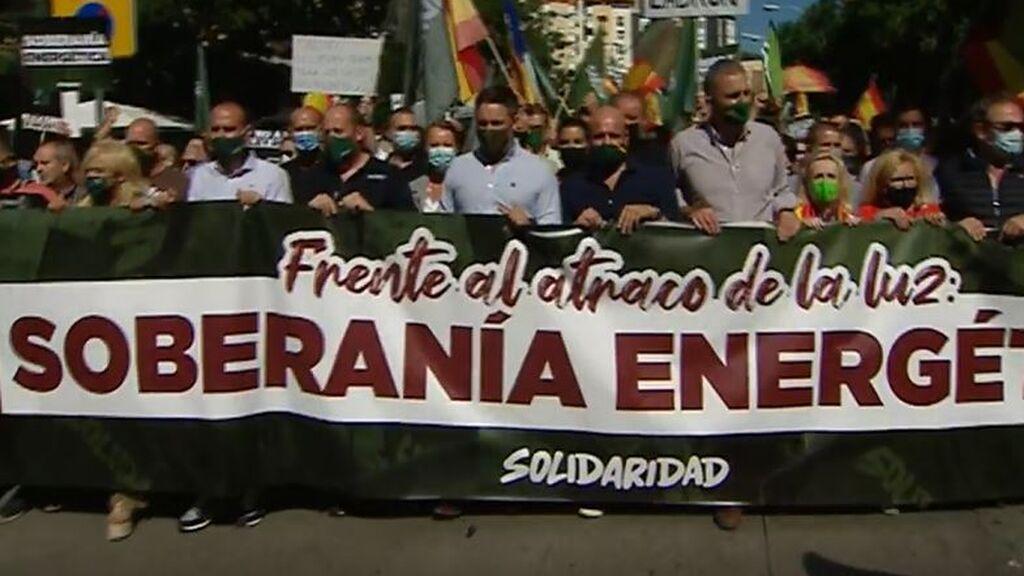 Manifestación de Vox en Madrid contra la factura de la luz: Santiago Abascal pide la convocación de elecciones