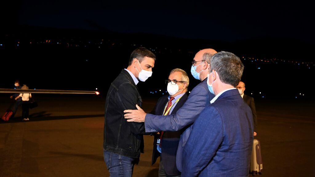 Pedro Sánchez se incorpora en La Palma al seguimiento de la erupción