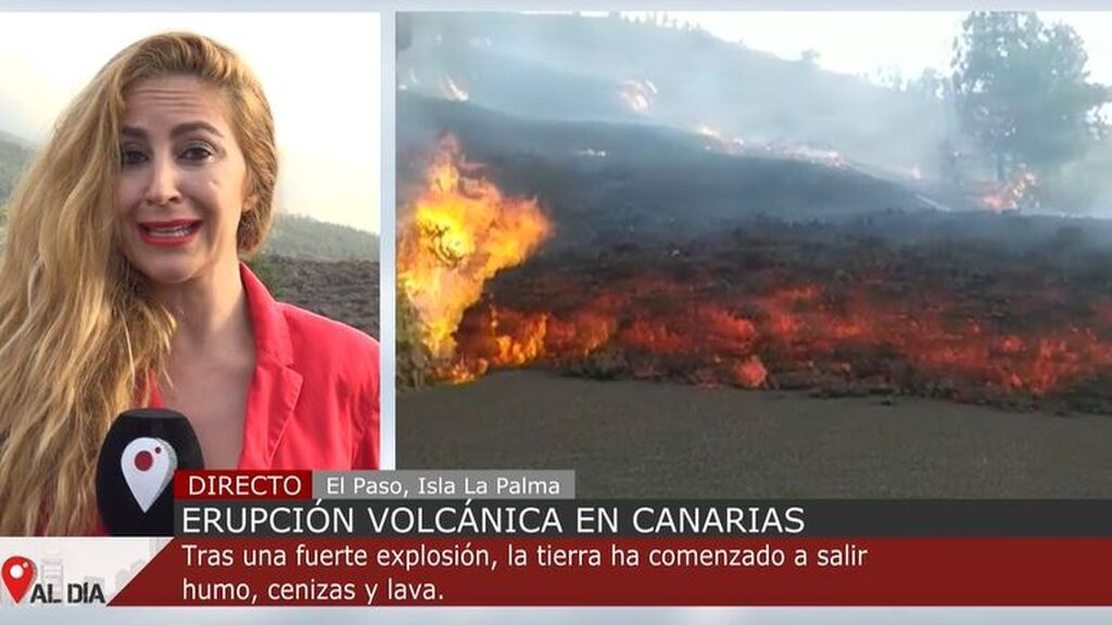 La lava de la erupción volcánica de La Palma avanza al ritmo de una persona caminando tranquilamente