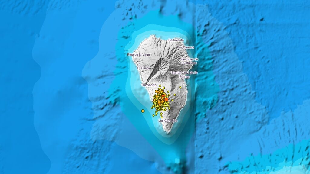 Un terremoto de 3.3 se deja sentir en seis municipios de La Palma