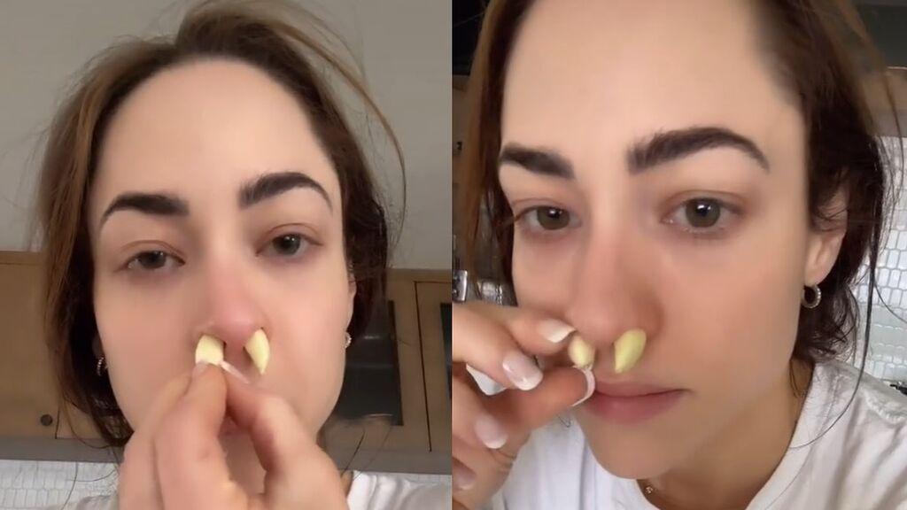 ¿Meterse ajo por la nariz para respirar mejor?