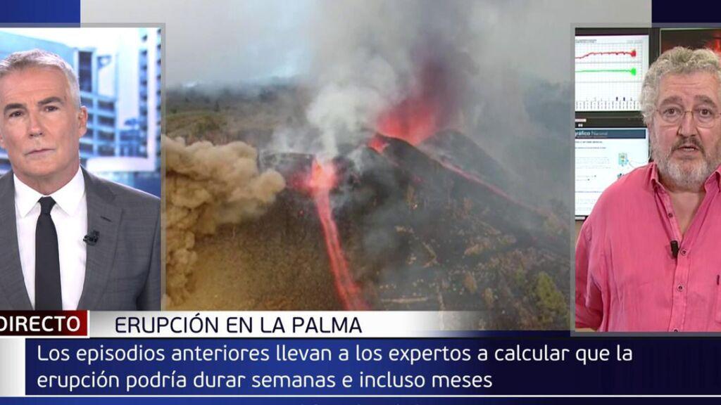 """David Cantero entrevista al vulcanólogo Juan Rueda: """"Ya no hay roturas vigilamos los ruidos"""""""