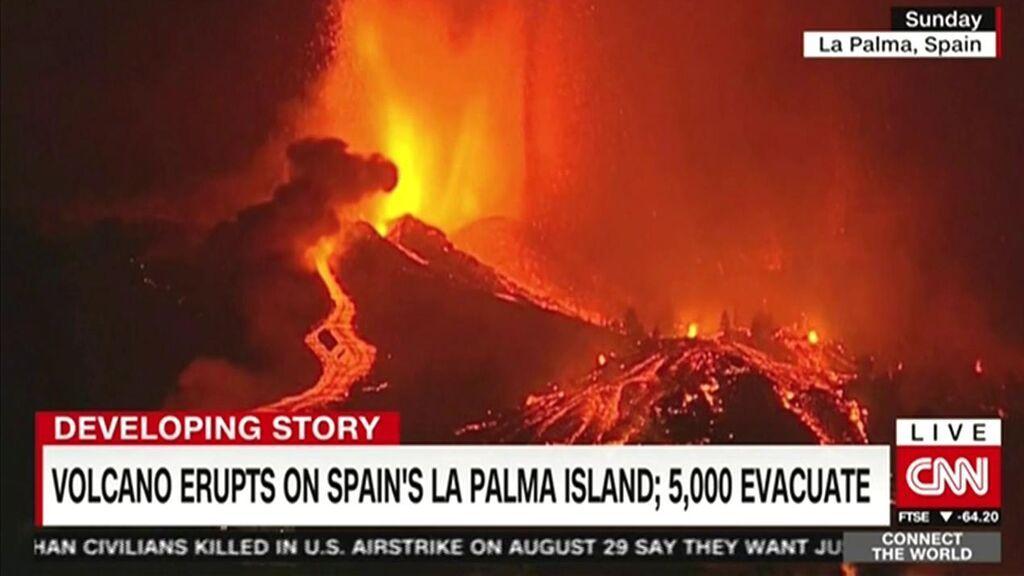 El mundo mira con interés la evolución del volcán de La Palma