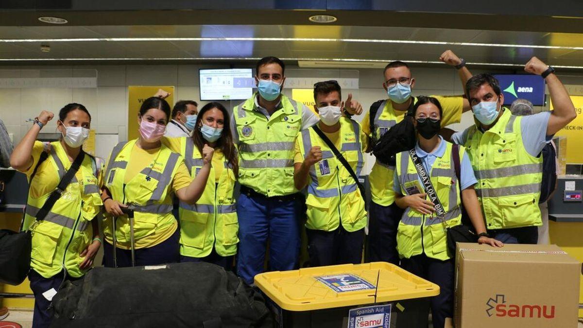 SAMU en envía un contingente de voluntarios para prestar apoyo a los desplazados en La Palma
