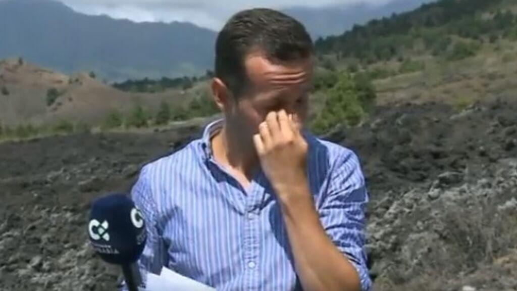 Reportero, justo antes de la erupción del volcán en La Palma