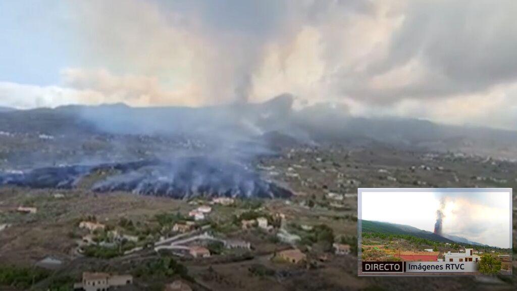 Las imágenes del volcán de La Palma vistas desde el aire